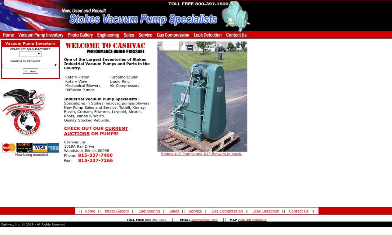 Cashvac, Inc  | Vacuum Pump Manufacturers
