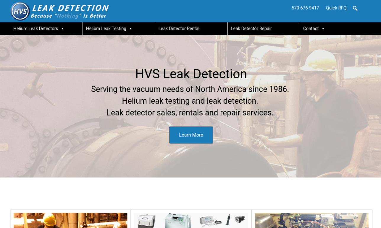 HVS Helium Leak Detection
